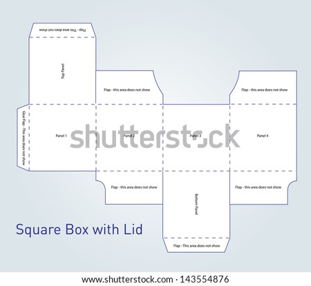 Box packaging template illustrator for Adobe illustrator packaging templates