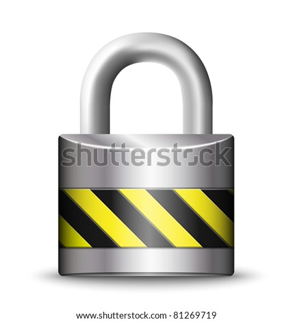 Vector Padlock Icon - stock vector