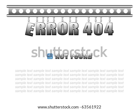 "Vector page ""Error 404"" for web design with your sample text"