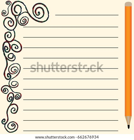 Vector page for notes and notebooks with colored spirals