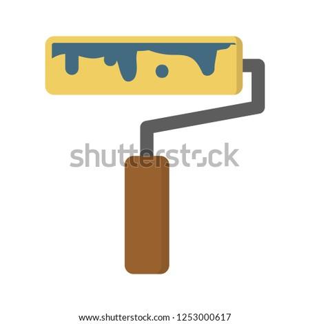 vector paint brush illustration isolated. drawing, design, decoration, art creativity icon
