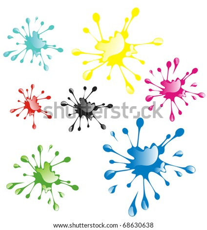 Vector Paint Drops
