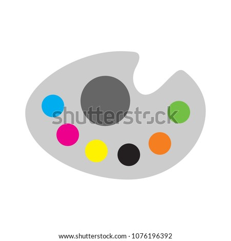 vector paint palette illustration - art icon, creative design tool