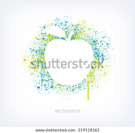 vector paint splatter design