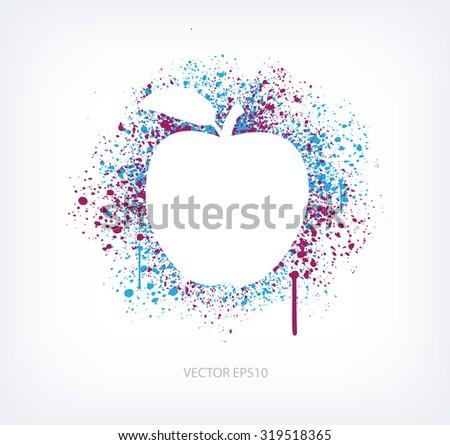 vector paint splatter design