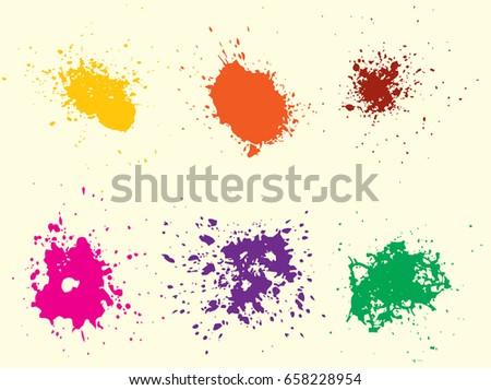 vector paint splatterscolorful