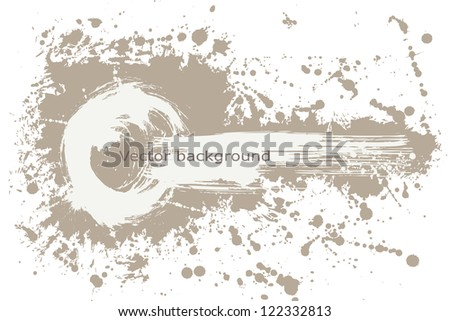 Vector painted grungy banner - stock vector