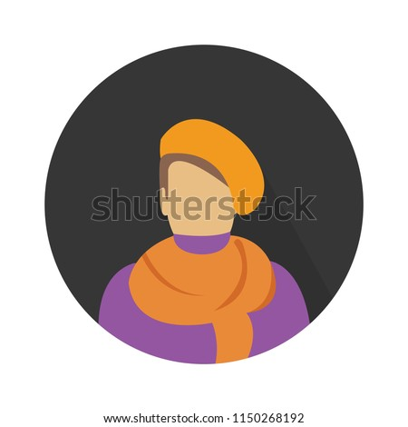 vector painter artist illustration, creative painting silhouette - art icon