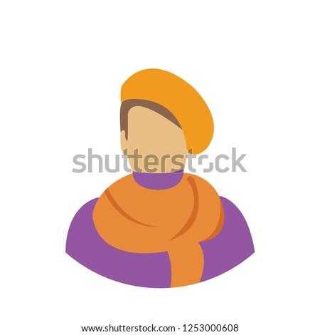 vector painter artist illustration, creative painting silhouette - art icon