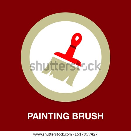 vector painting brush illustration isolated, painting work, painting sign and symbol