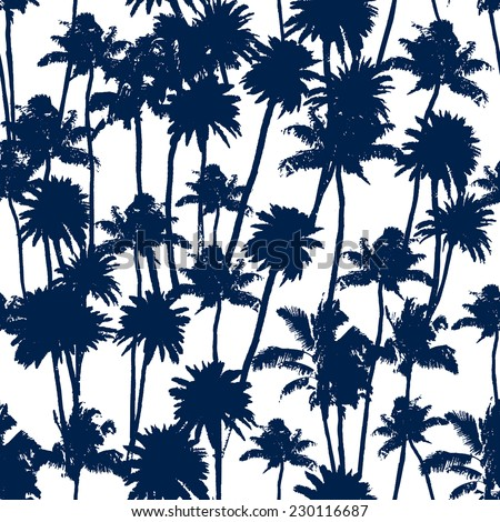 vector palm trees illustration