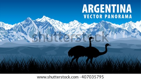 vector panorama of argentina