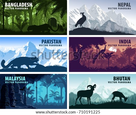 vector panorama of bangladesh