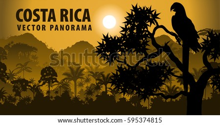 vector panorama of costa rica
