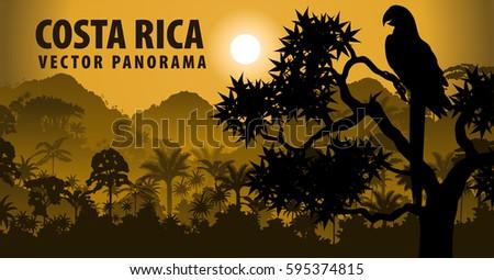 vector panorama of costa rica