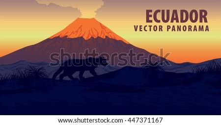 vector panorama of ecuador