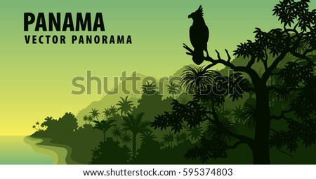 vector panorama of panama with