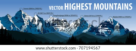 vector panorama of the five