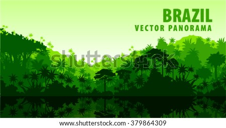vector panorama with amazon