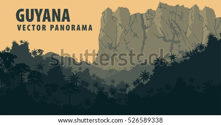 vector panorama with jungle
