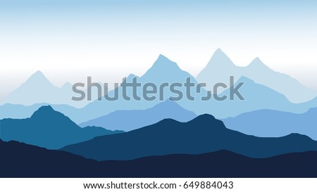 vector panoramic view of the