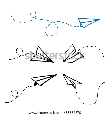 vector paper airplane travel