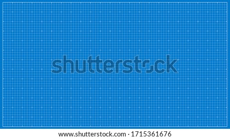 Vector Paper blueprint background. Blue wide paper for architectural drawings. Stockfoto ©