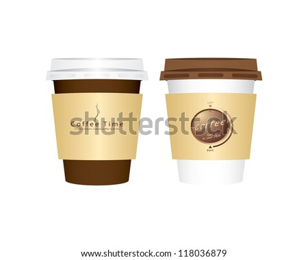 Vector 2 paper coffee cups