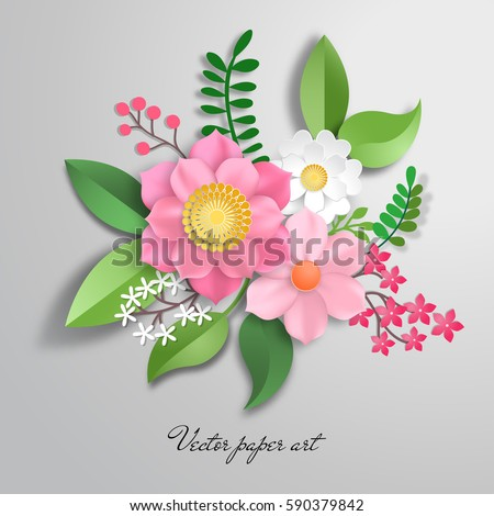 Iconswebsite icons website search over 28444869 icons icon vector paper cut design with flower composition mightylinksfo