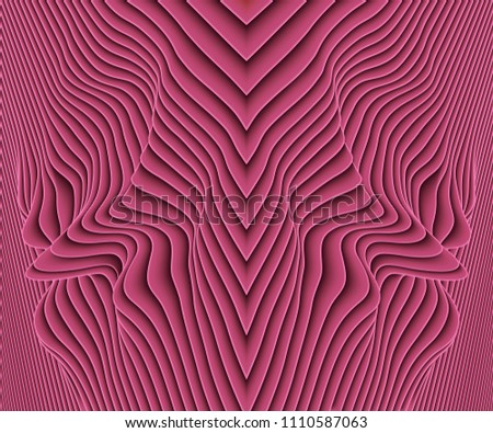 vector paper cut waves modern