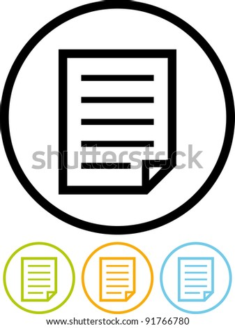 Vector paper document icon