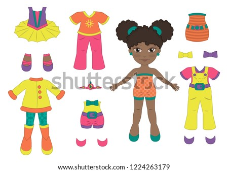 vector paper doll baby ballet