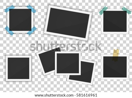 Vector paper frames pack isolated on transparent background