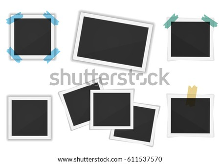 Vector paper frames pack isolated on white