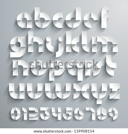 Vector Paper Graphic Alphabet Set