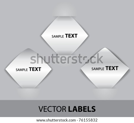 Vector paper labels