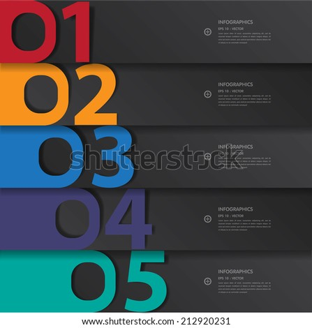 Vector paper lines and numbers design template for web site.Vector/EPS10