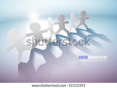 Vector Paper Men Teamwork