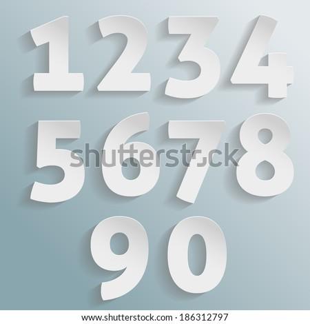 Vector paper numbers