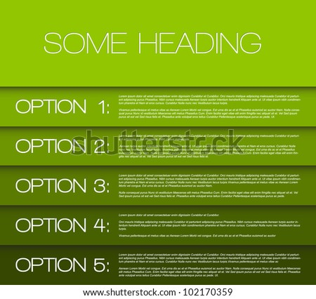 Vector Paper options background / product choice or versions