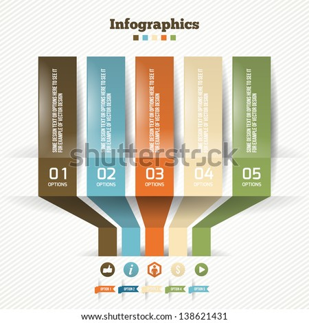 Vector Paper Origami Effect. Business Modern Options Banners. Vector illustration for web design or infographics.