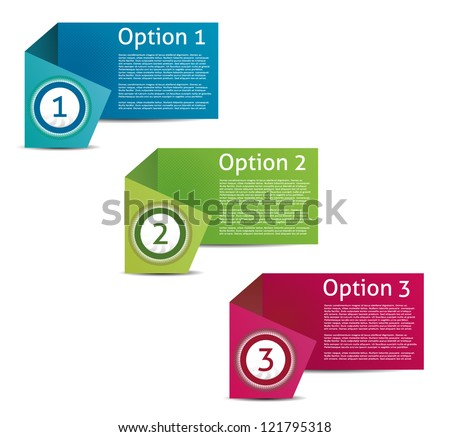 Vector Paper Progress Background Product Choice or Version eps 10