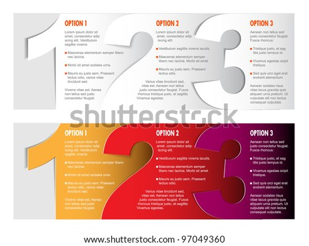 Vector Paper Progress background / product choice or versions