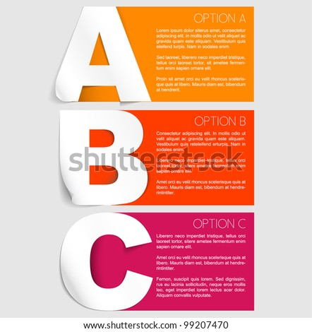 Vector Paper Progress background product choice or versions