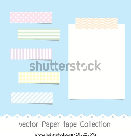 vector Paper tape Collection