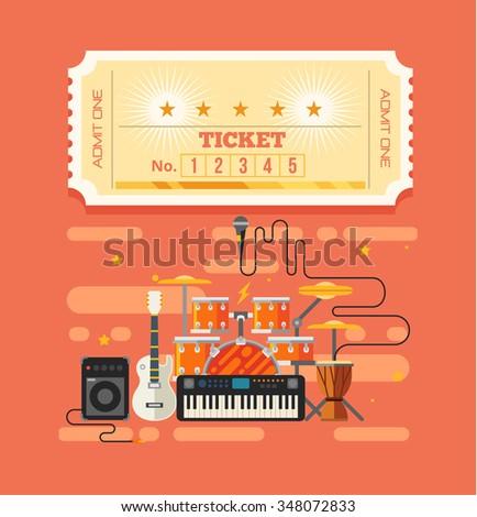 vector paper tickets flat rock