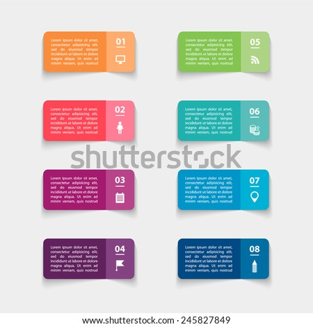 vector paper triangle stickers
