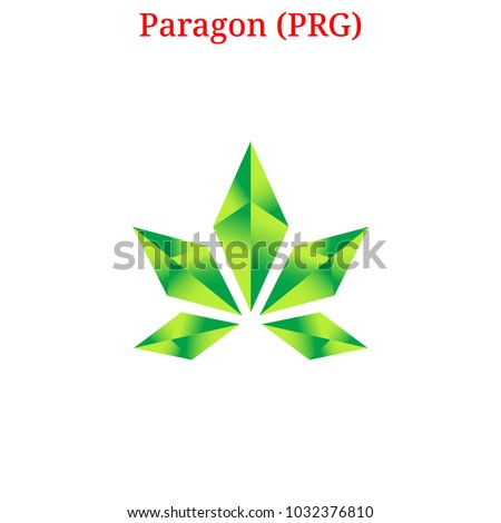 Vector Paragon (PRG) digital cryptocurrency logo. Paragon (PRG) icon. Vector illustration isolated on white background. Zdjęcia stock ©