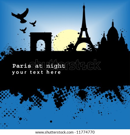 paris at night poem. hot Wallpaper in paris paris at night wallpaper. stock vector : Vector