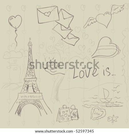 vector Paris symbols